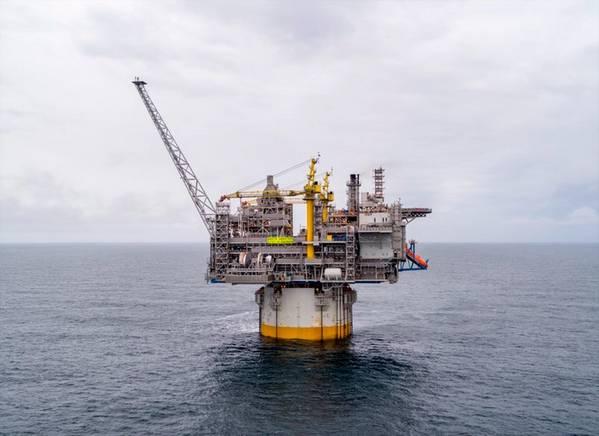 O mastro de gás do Mar da Noruega, Aasta Hansteen (Foto: Equinor / NPD)