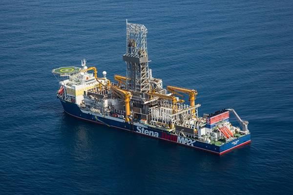 O poço de exploração Joe-1 foi perfurado pelo navio de perfuração Stena Forth (Foto: Tullow Oil)