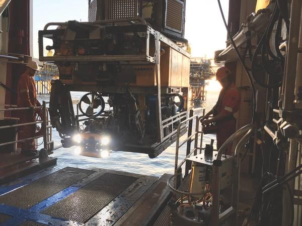 O sistema ORUS3D da Comex foi integrado em um ROV para operações no Mar do Norte em 2018. (Fonte: Comex Innovation)