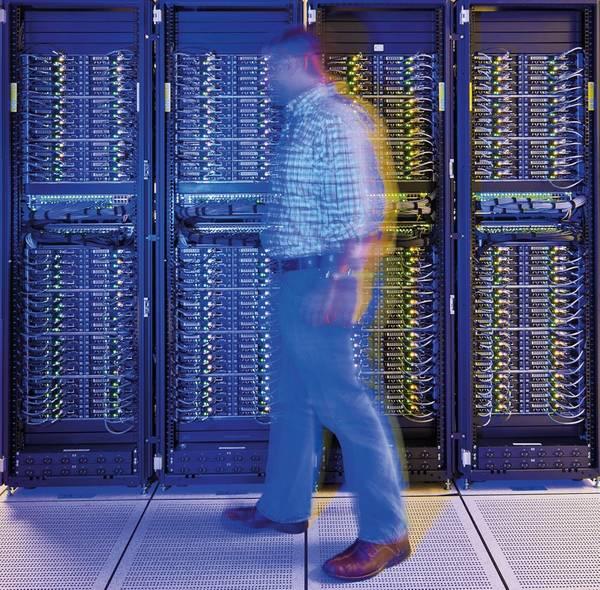 La supercomputadora de BP en su centro de cómputo en Houston (Foto: BP)