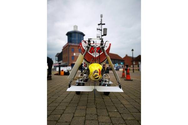 Caravela and her payload before deployment to warmer climes. Photo: AutoNaut