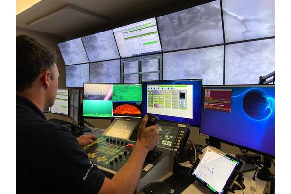 Fugro has Remote Operation Centres from which to operate its ROVs and USVs. Photos from Fugro.