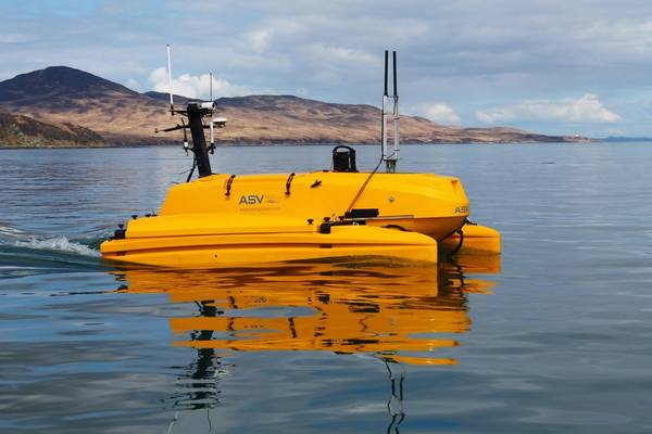 A C-Cat 3, from ASV Global, being used for ADCP work in the Sound of Islay. Photo from MarynSol.