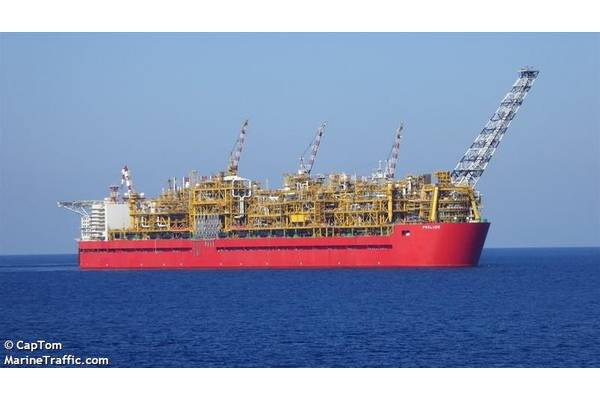 Prelude FLNG - Image by CapTom/MarineTraffic