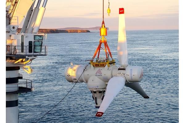 SIMEC Atlantis Energy's tidal turbine - Credit: SIMEC Atlantis Energy