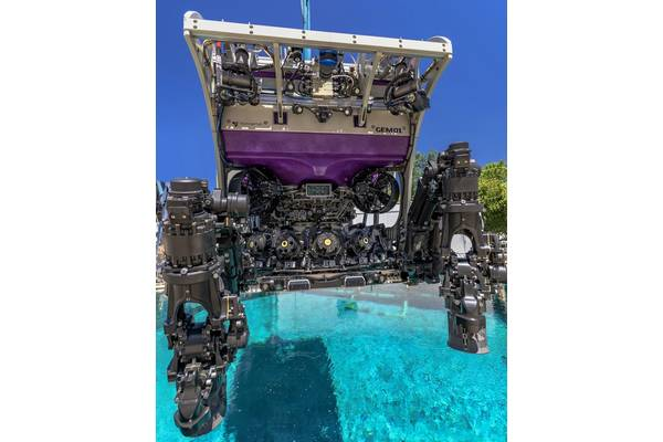 TechnipFMC's new Gemini ROV is already working in the US Gulf of Mexico for Shell. It comes with new manipulator interfaces and an onboard tool carousel. Images from TechnipFMC.