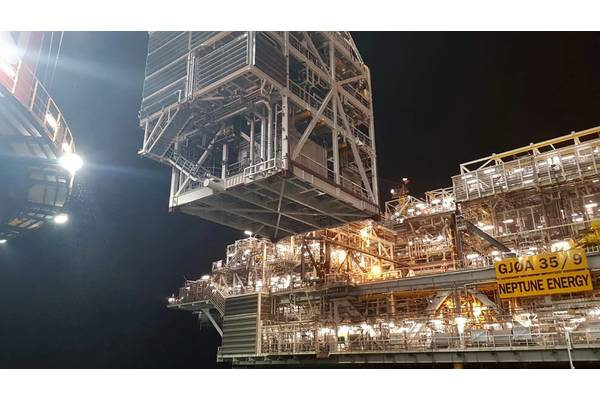 Nova Topside being lifted on Neptune's Gjøa Platform - Image Credit: Heerema Marine Contractors