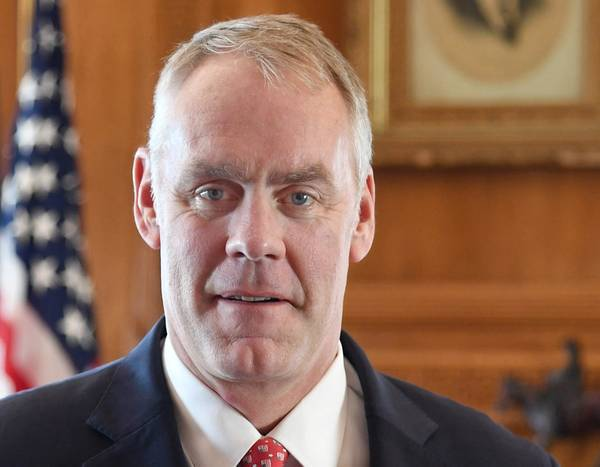 Ο υπουργός Εσωτερικών Ryan Zinke (Φωτογραφία: Υπουργείο Εσωτερικών των ΗΠΑ)
