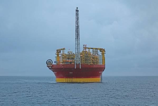 स्थान पर पश्चिमी द्वीप एफपीएसओ (दाना पेट्रोलियम की छवि सौजन्य)