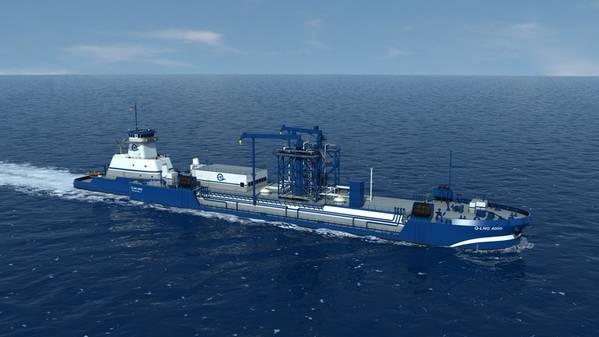 ファイルイメージ:Harvey-Gulf(Q-LNG)の将来のATB LNGバンカー船はShellとのチャーターを含む。イメージ:HGIM